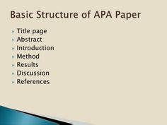 Write apa format research paper